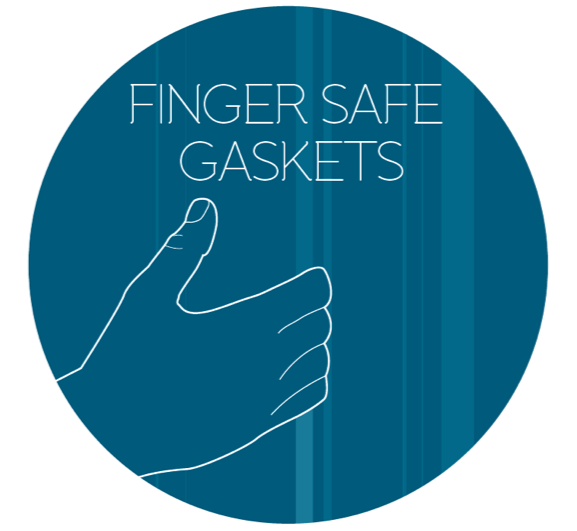 Finger safe gaskets